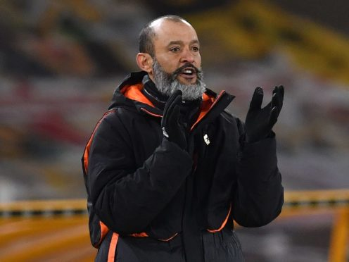Nuno Espirito Santo will take charge of Wolves for the final time on Sunday (Paul Ellis/PA)