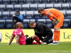 Andre Wisdom is an injury doubt for Derby (Martin Rickett/PA)