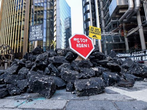 Protesters have previously demanded that the City stop financing coal (Insurance Rebellion/PA)