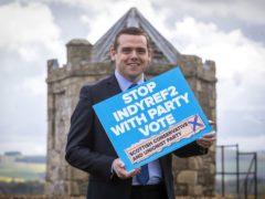 Douglas Ross urged the electorate to vote tactically (Jane Barlow/PA)