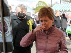 Nicola Sturgeon on the campaign trail (Russell Cheyne/PA)