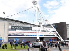 Bolton fans had gathered outside the stadium as their team pushed for promotion (Tim Markland/PA)