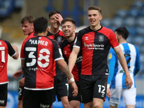 Jordan Shipley celebrates scoring Coventry's goal (Nigel French/PA)