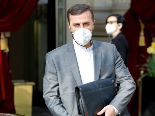 Iran's Governor to the International Atomic Energy Agency (IAEA), Kazem Gharib Abadi leaves the Grand Hotel Wien on Saturday after the latest round of nuclear talks (Lisa Leutner/AP)