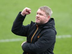 Grant McCann celebrates as Hull are crowned champions (Richard Sellers/PA)