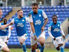 Jonson Clarke-Harris sealed Peterborough's promotion (Bradley Collyer/PA)