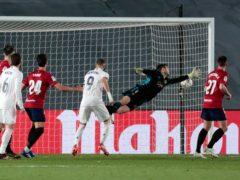 Eder Militao opened the scoring (AP Photo/Bernat Armangue)