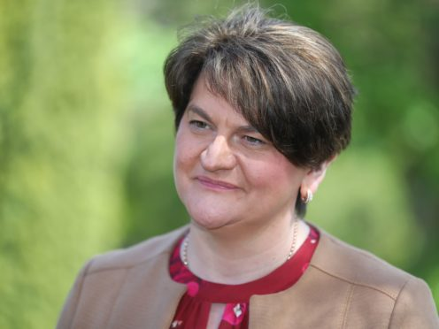 Outgoing DUP leader Arlene Foster (Niall Carson/PA)