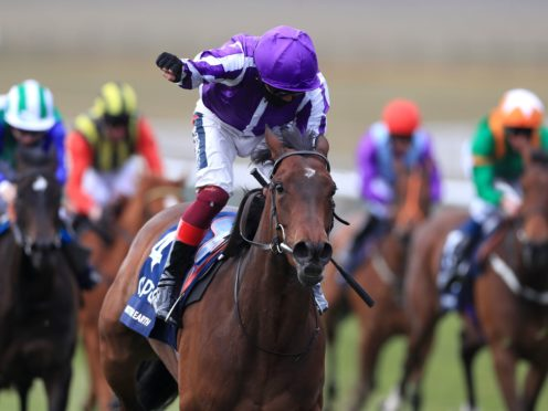 Mother Earth lifts the Qipco 1000 Guineas at Newmarket in the hands of Frankie Dettori (Mike Egerton/PA)