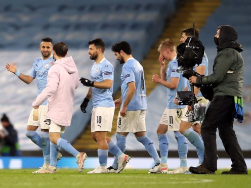 Manchester City were able to celebate after beating PSG (Martin Rickett/PA)