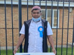 Tiger Patel has won a local election in Blackburn after his campaign video from a playground went viral (Blackburn Conservative Association)