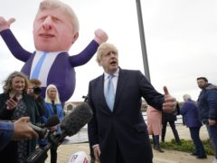 Prime Minister Boris Johnson travelled to Hartlepool to celebrate Jill Mortimer MP's by-election victory (Owen Humphreys/PA)