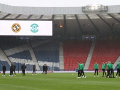 Hampden Park could be empty for the Scottish Cup final (Jeff Holmes/PA)