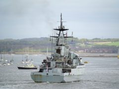 Royal Navy patrol ship HMS Severn returns to Portsmouth Naval Base from Jersey (Steve Parsons/PA)