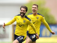 Elliot Lee celebrates his goal (Bradley Collyer/PA)