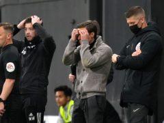 Scott Parker is hurt by relegation (John Walton/PA)