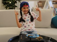 Michelle Rasul in the lobby of her apartment building in Dubai, United Arab Emirates (Kamran Jebreili/AP)