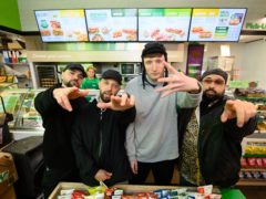 People Just Do Nothing's Kurupt FM announce their takeover of Subway's in-store radio station (Jonathan Hordle/PA)