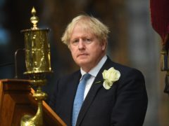 Prime Minister Boris Johnson at Westminster Abbey (Victoria Jones/PA)