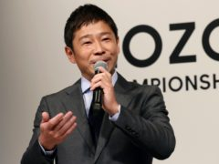 Zozo chief executive Yusaku Maezawa (Koji Sasahara/AP)