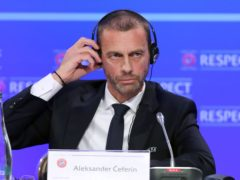 """UEFA and its president Aleksander Ceferin have been labelled """"greedy"""" by Chelsea and Manchester City supporters (Niall Carson/PA)"""