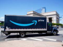 An Amazon truck in Philadelphia (Matt Rourke/AP)