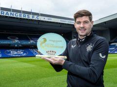 Rangers manager Steven Gerrard has won the SPFL's Glen's Manager of the Season award (PA)