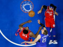 The Philadelphia 76ers have snatched the top seed in the Eastern Conference play-offs and secured home-court advantage following a 122-97 dismissal of the Orlando Magic (Matt Slocum/AP)