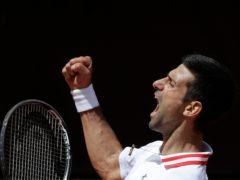 Novak Djokovic had a memorable day in Rome (Gregorio Borgia/AP)