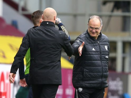 Marcelo Bielsa, right, said his Leeds side scored 'beautiful goals' against Burnley (ALex Livesey/PA)