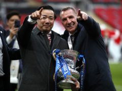 Boss Brendan Rodgers, right, insists Leicester's top-four challenge is not over (Matthew Childs/PA)