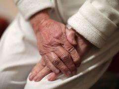 An elderly woman's hands (Yui Mok/PA)