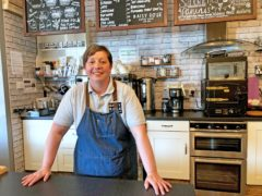 Caroline Atkinson, owner of the Rose Coffee House in Belmont, Durham (Tom Wilkinson/PA)