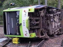 The Sandilands rail crash was caused by excessive speed, an inquest has heard (RAIB/PA)
