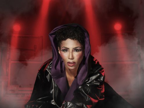 Sinitta dressed as Grace Jones (Simon Webb/Greatest Hits Radio)