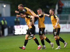 Matt Dolan, left, celebrates his goal (Nick Potts/PA)
