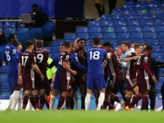 Tempers flared during the Premier League match at Stamford Bridge (Catherine Ivill/PA)