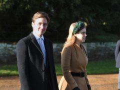 Princess Beatrice and her husband Edoardo Mapelli Mozzi (Joe Giddens/PA)