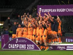 Montpellier players celebrate with the trophy (Mike Egerton/PA)