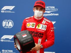 Charles Leclerc will have to wait to see if he retains pole position (Sebastien Nogier, Pool via AP)