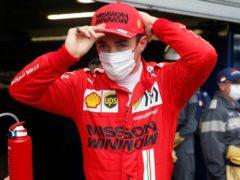 Charles Leclerc faces an anxious wait to see how badly damaged his Ferrari is (Sebastien Nogier, Pool via AP)