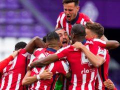 Atletico Madrid celebrated their first LaLiga title since 2014 (Manu Fernandez/AP)