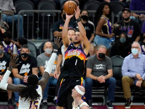 Devin Booker starred for the Phoenix Suns (AP Photo/Ross D. Franklin)