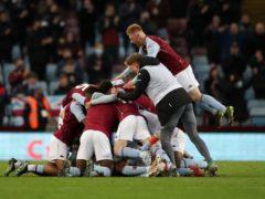 Aston Villa celebrate winning the FA Youth Cup (Nick Potts/PA).