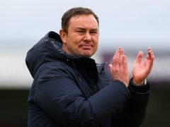 Morecambe manager Derek Adams' plans for his squad to take a pre-final look at Wembley were scuppered by Covid-19 regulations (Barrington Coombs/PA)