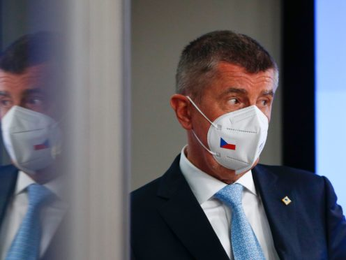 Czech Republic's Prime Minister Andrej Babis (Johanna Geron, Pool via AP)