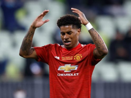 Manchester United forward Marcus Rashford was subjected to racist abuse on social media (Kacper Pempel/AP/PA Images)