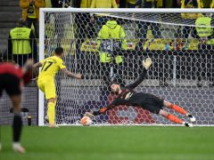 Manchester United goalkeeper David De Gea fails to save Villarreal's Paco Alcacer's penalty (PA)