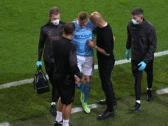 Kevin De Bruyne was forced off on Saturday (Adam Davy/PA)