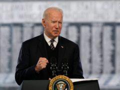 President Joe Biden speaks at a Memorial Day event at Veterans Memorial Park at the Delaware Memorial Bridge (Patrick Semansky/AP)